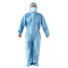Синий защитный одноразовый костюм