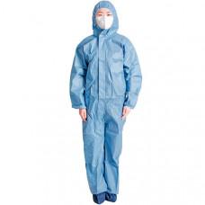 Защитный одноразовый костюм синий